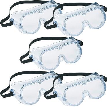 Safety Goggles - 5-pack